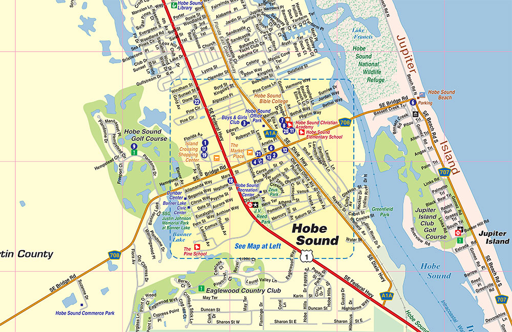 Hobe Sound Florida Map.Hobe Sound Fl Map Community And Area Map Town Square Publications