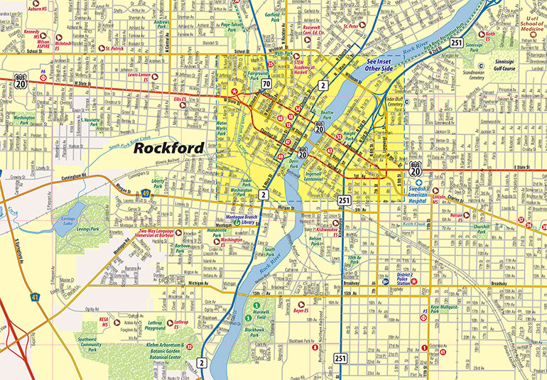 Rockford Il Map Rockford IL Map, Rockford Interactive Map   Town Square Publications