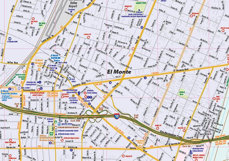 El Monte Ca Map El Monte Interactive Map Town Square
