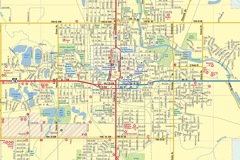 Mason City Ia Map Interactive Map Of Mason City Town Square