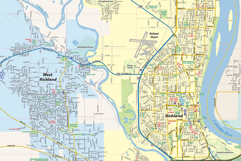 Tri-Cities Regional WA Map, Interactive Map - Town Square