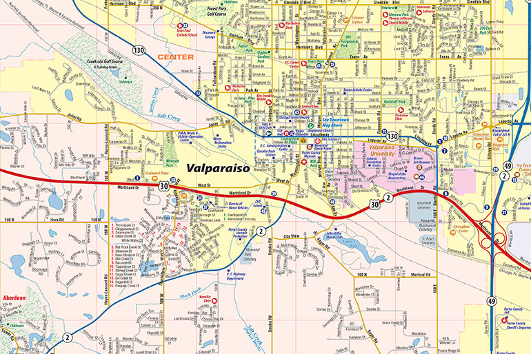 Valparaiso IN Map, Interactive Map - Town Square Publications on map of linwood new jersey, map of kansas in 1880, map of memphis tn and surrounding area, south state highway 69 in texas, map of celeste tx, blue ridge texas, usda map eligibility texas, honey grove texas, anna texas, historical maps of texas,