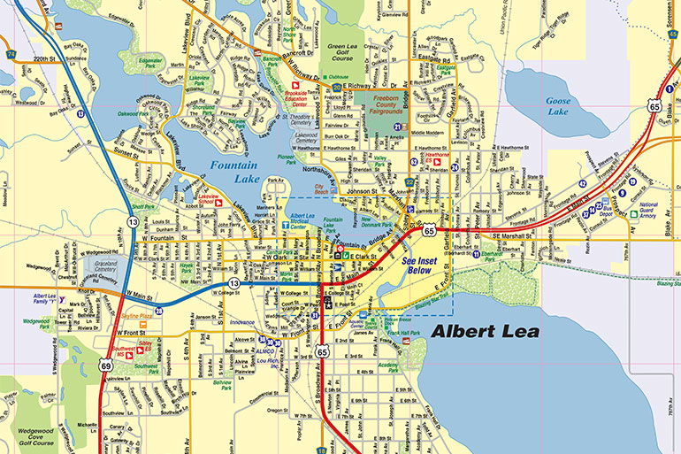 Albert Lea MN Map, Interactive Map - Town Square Publications
