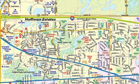 Southlake Town Square Map on