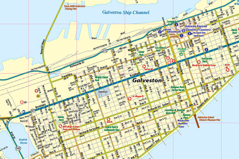 Galveston Tx Map Interactive Map Town Square Publications